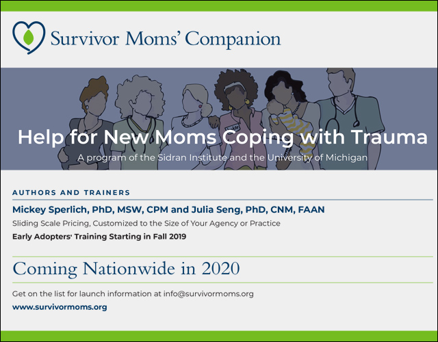 Survivor Moms' Companion Early Adopters' Training Starting 2019